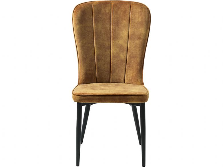 Mayfield yellow velvet dining chair