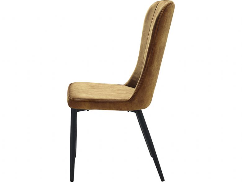 Mayfield modern yellow dining chair