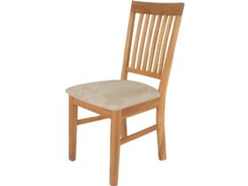 Oak Dining Chair With Fabric Seat