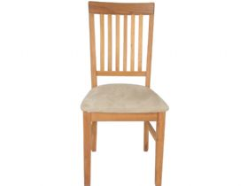 Durham Chair With Fabric Seat Front