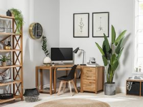 Durham oiled oak office collection