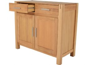 Durham Oak 2 Door Sideboard Side