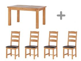 Small Extending Table & 4 Dining Chairs