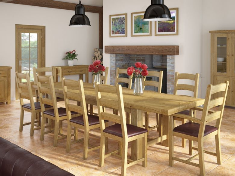 Vintage oak dining collection