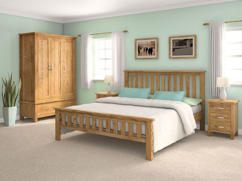 Oxford oak bedroom collection
